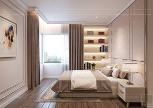 thiết kế căn hộ sunrise city - phòng ngủ master 2
