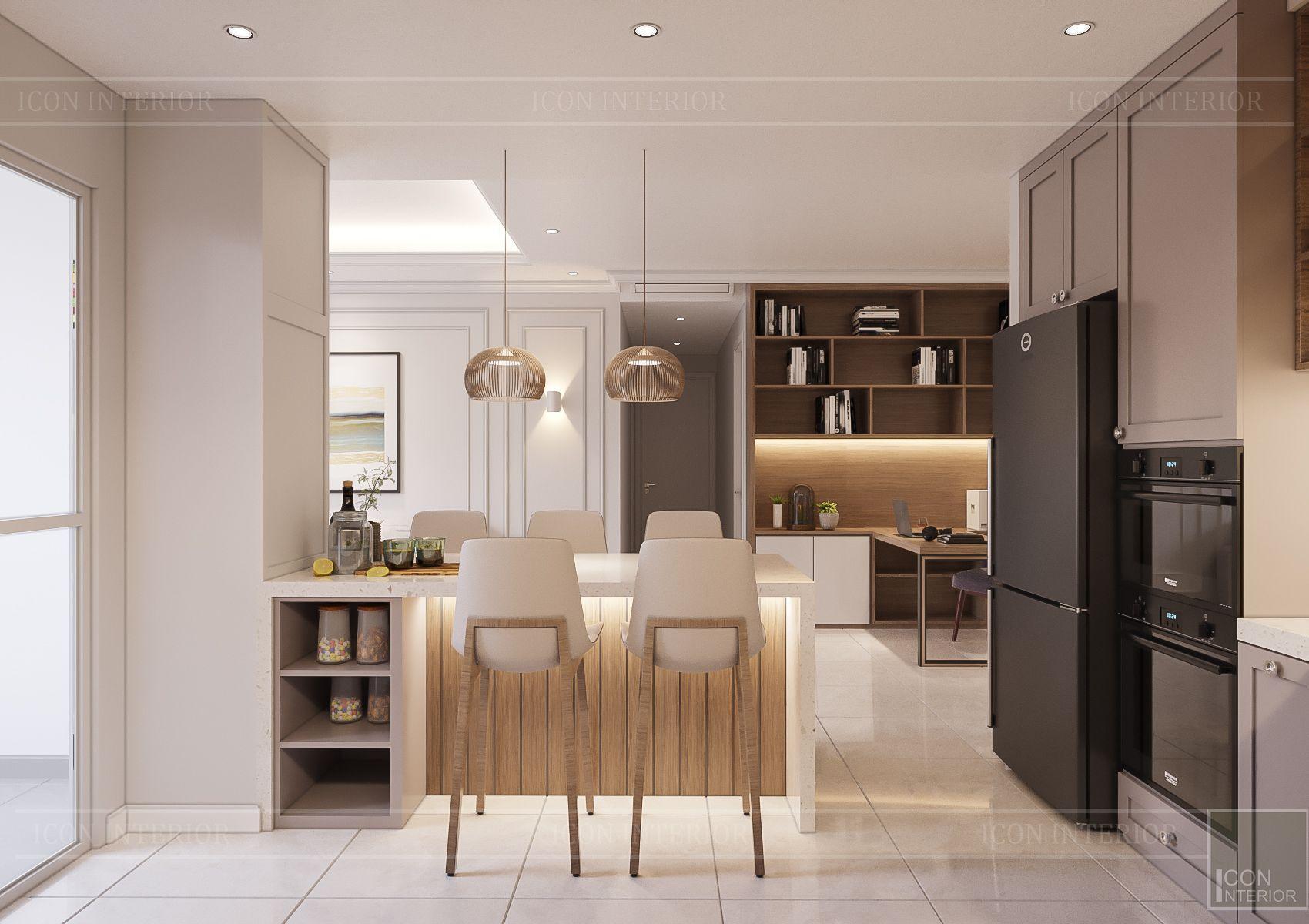 thiết kế căn hộ sunrise city - quầy bar