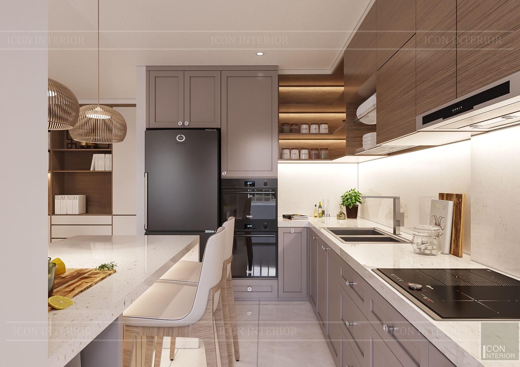 thiết kế căn hộ sunrise city - phòng bếp