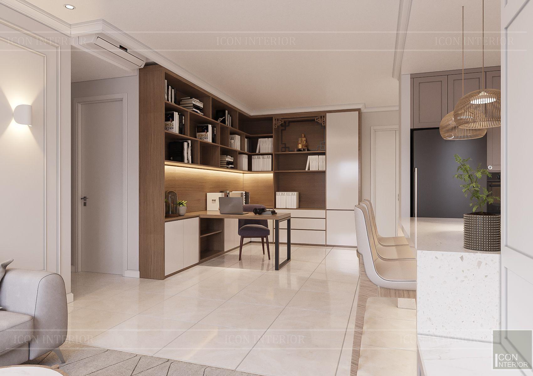 thiết kế căn hộ sunrise city - phòng làm việc
