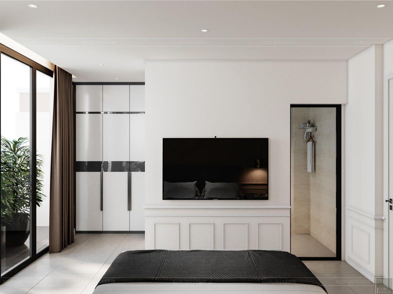 thiết kế nội thất nhà phố 2 tầng - phòng ngủ nhỏ 2