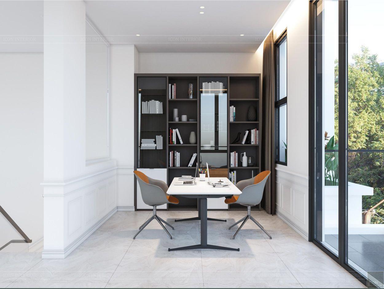 thiết kế nội thất nhà phố 2 tầng - phòng làm việc 3