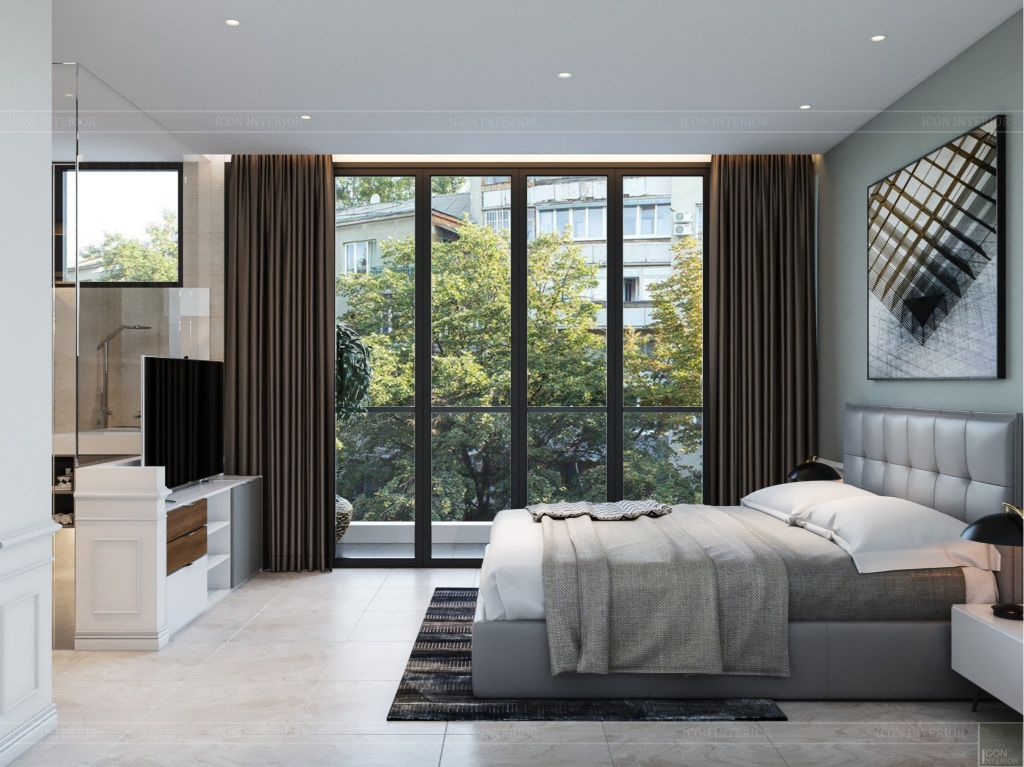 thiết kế nội thất nhà phố 2 tầng - phòng ngủ nhỏ 3