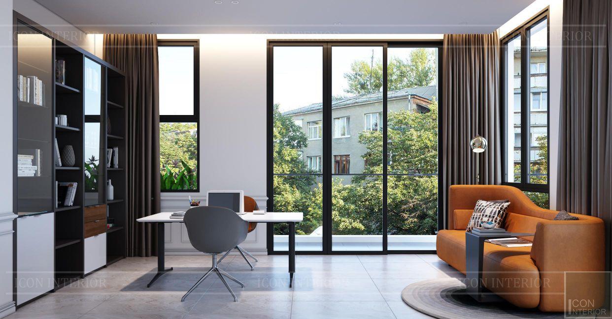 thiết kế nội thất nhà phố 2 tầng - phòng làm việc 1