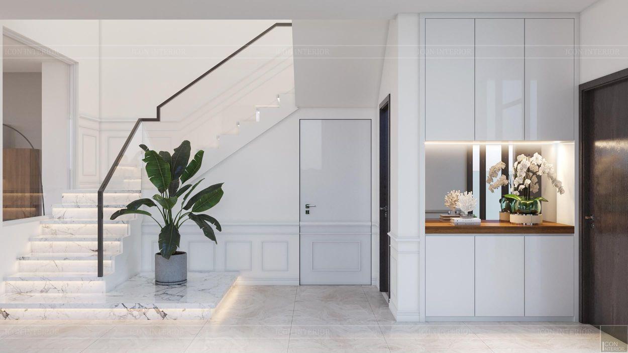 thiết kế nội thất nhà phố 2 tầng - cầu thang