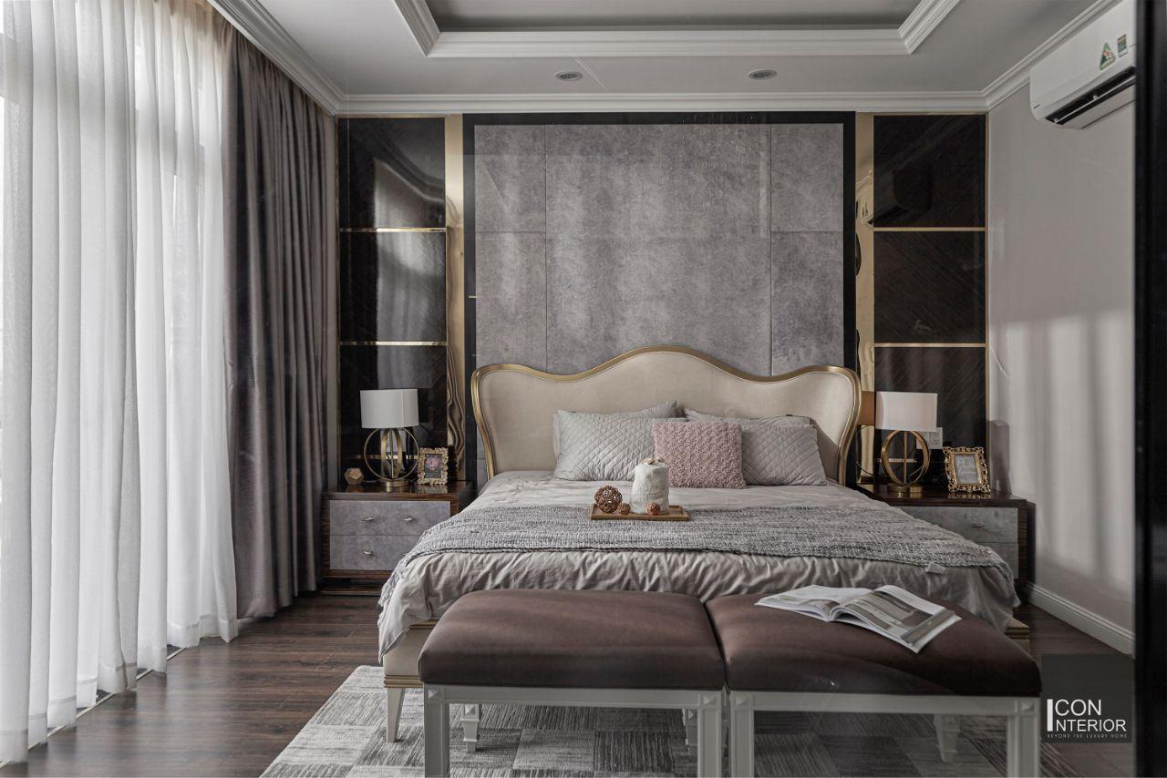 phòng ngủ master biệt thự nghỉ dưỡng