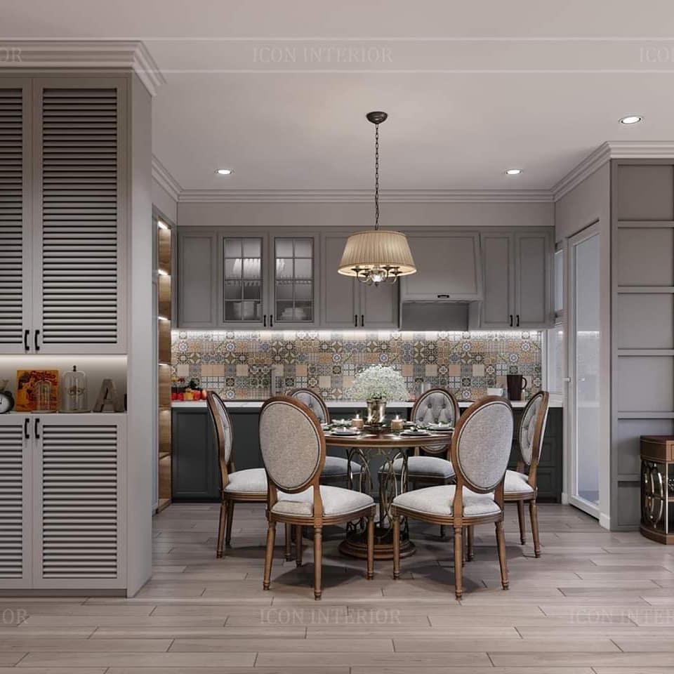 thiết kế nội thất căn hộ palm heights - phòng ăn 1