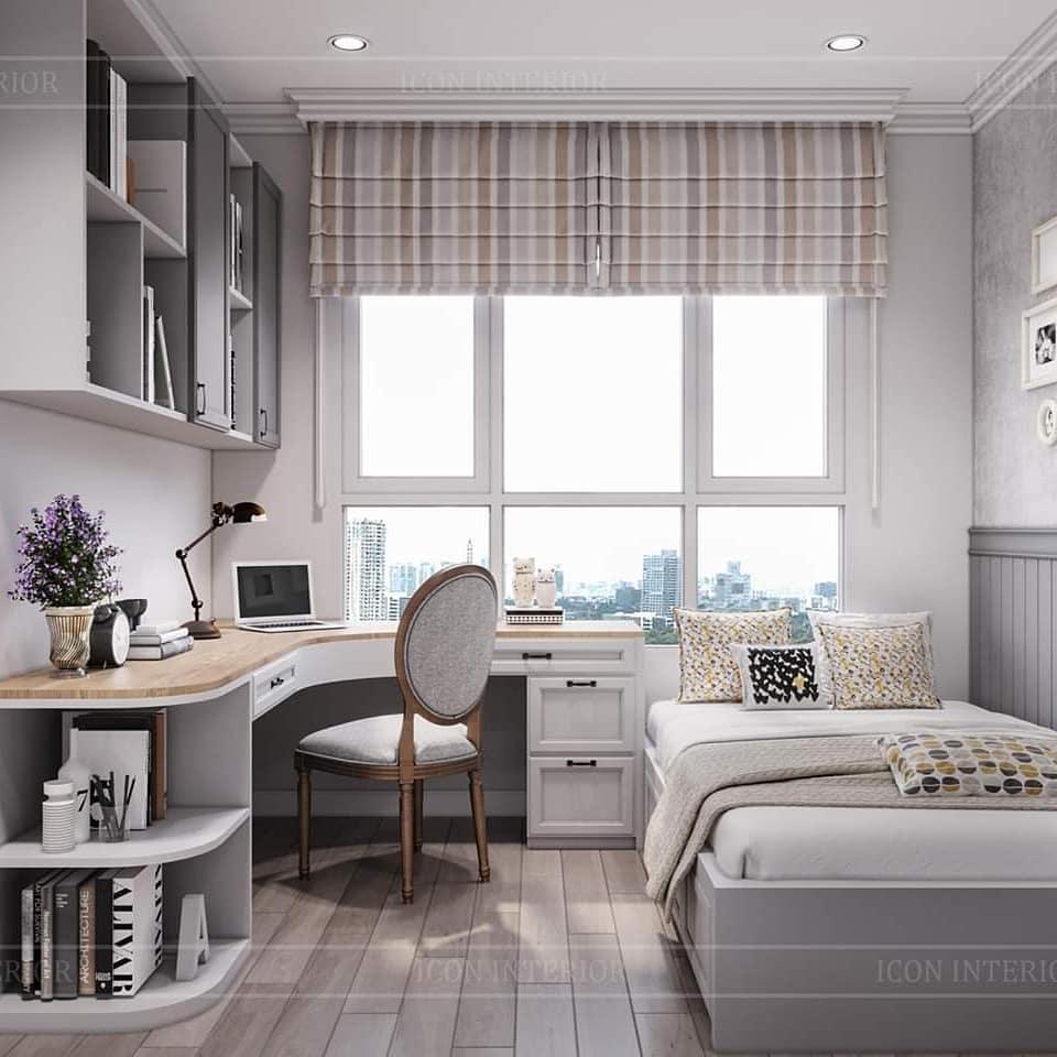Thiết kế nội thất căn hộ chung cư 90m2 phong cách vintage
