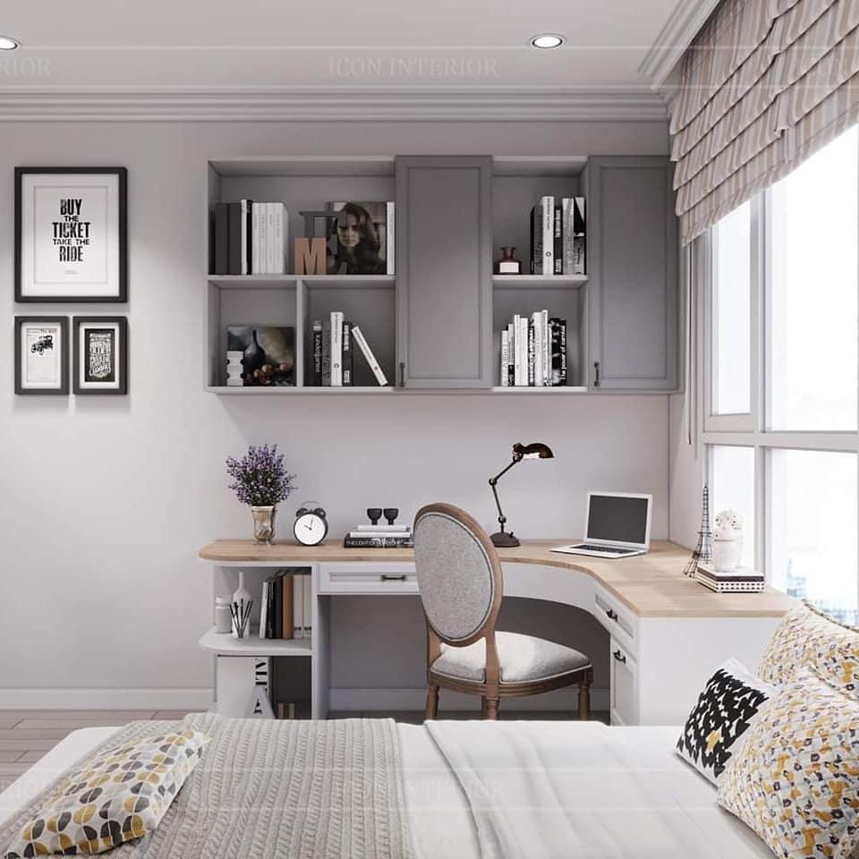 thiết kế nội thất căn hộ palm heights - phòng ngủ 2