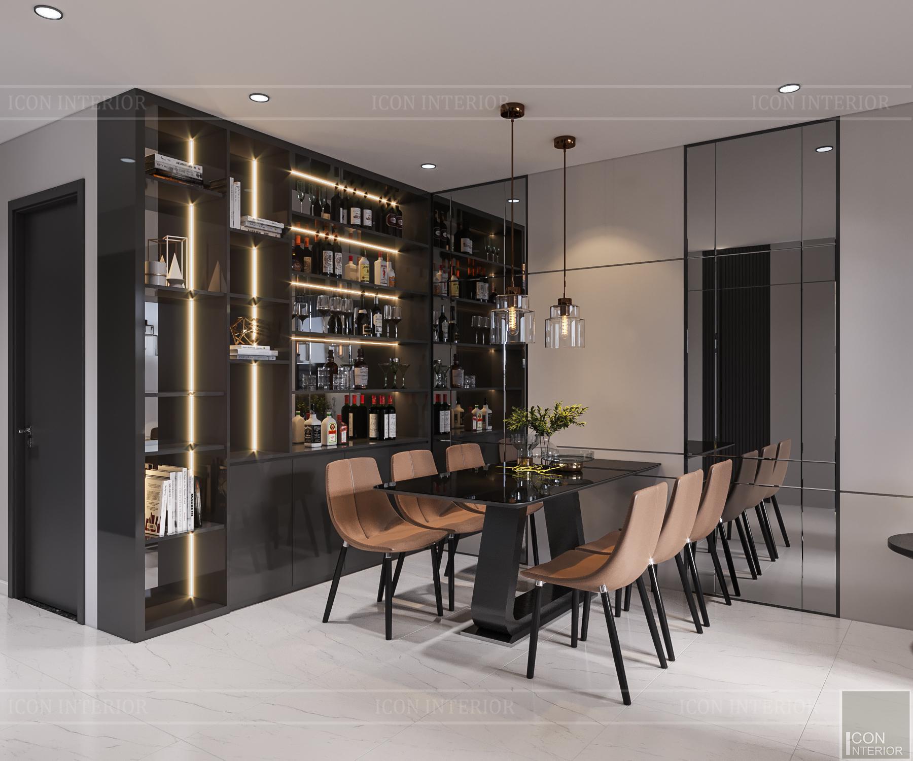 thiết kế nội thất căn hộ flemington - phòng ăn