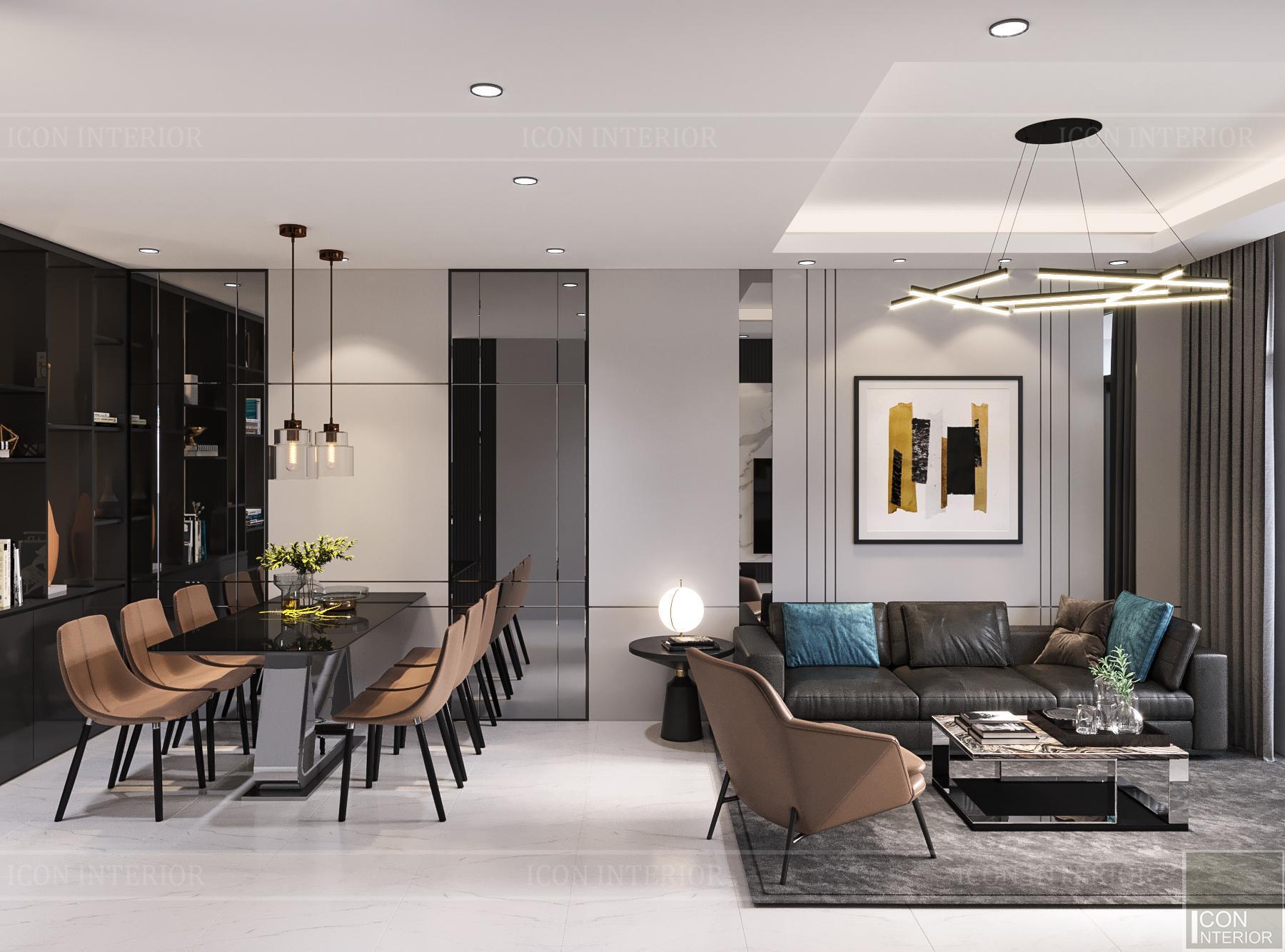 thiết kế nội thất căn hộ flemington - phòng khách 3