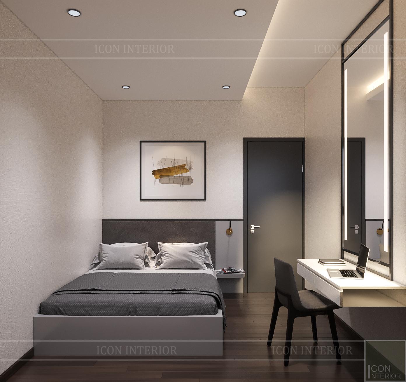 thiết kế nội thất căn hộ flemington - phòng ngủ nhỏ