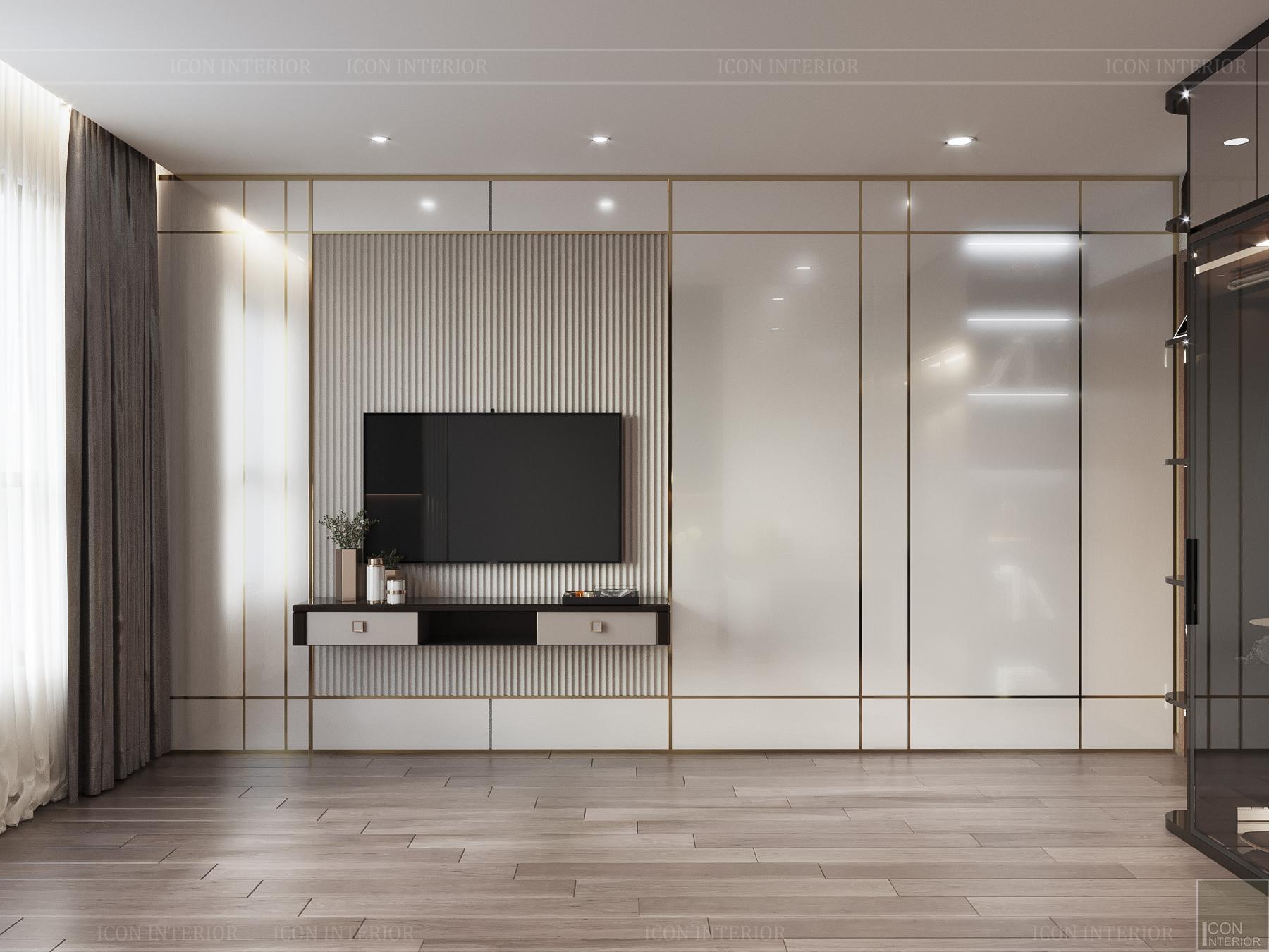 thiết kế nội thất chung cư hado centrosa - phòng ngủ 1
