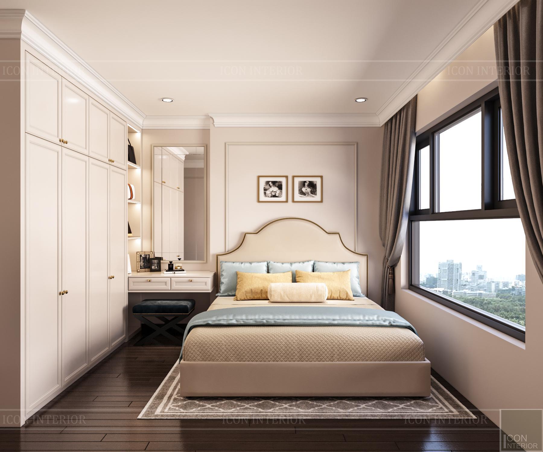 thiết kế nội thất căn hộ golden mansion - phòng master