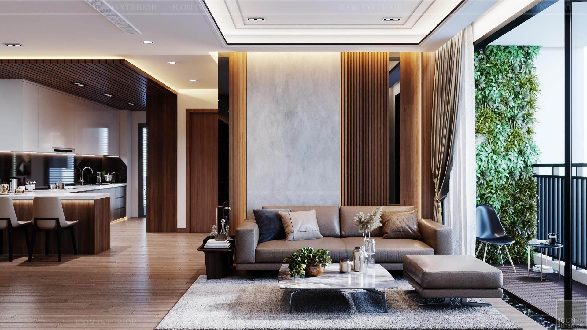 thiết kế nội thất phong cách hiện đại - phòng khách 2