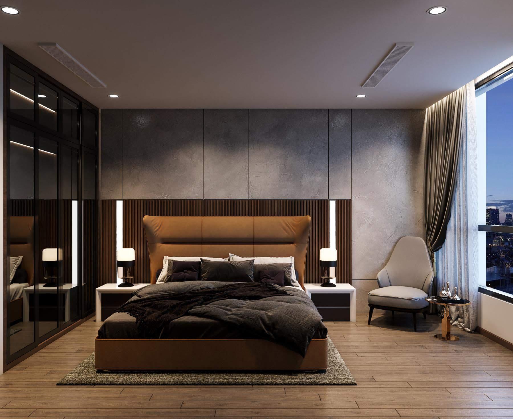 thiết kế nội thất phong cách hiện đại - phòng ngủ nhỏ