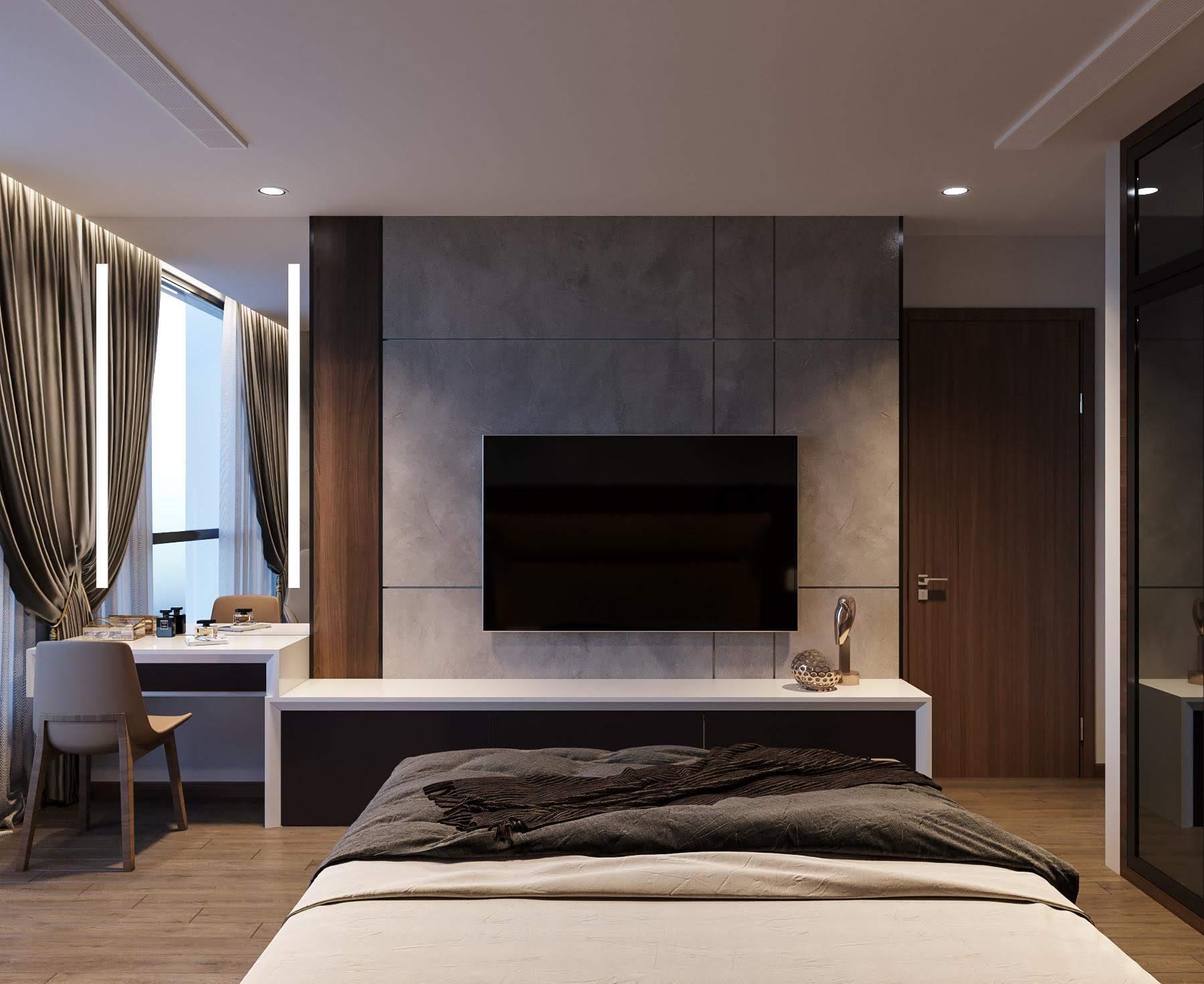thiết kế nội thất phong cách hiện đại - phòng ngủ 1