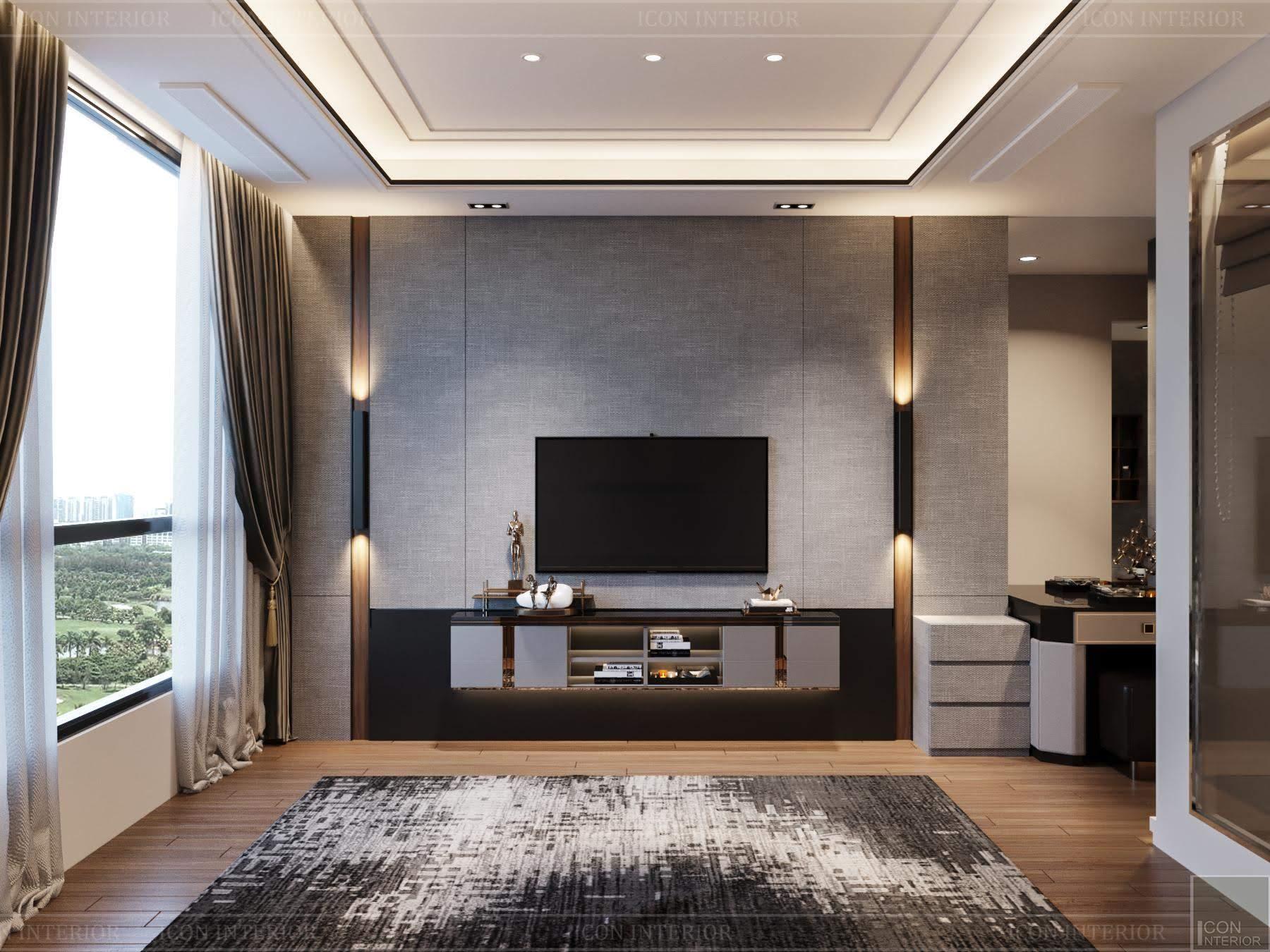 thiết kế nội thất phong cách hiện đại - phòng master 1