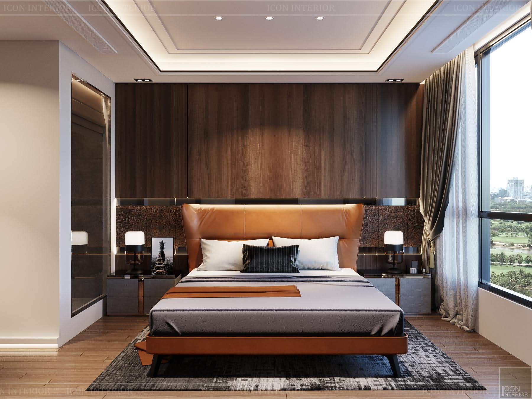 thiết kế nội thất phong cách hiện đại - phòng master 2