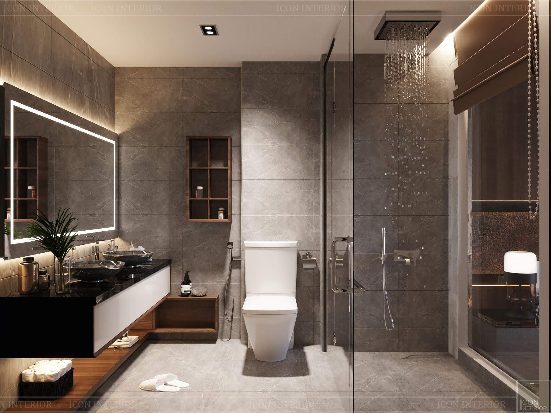 thiết kế nội thất phong cách hiện đại - phòng tắm