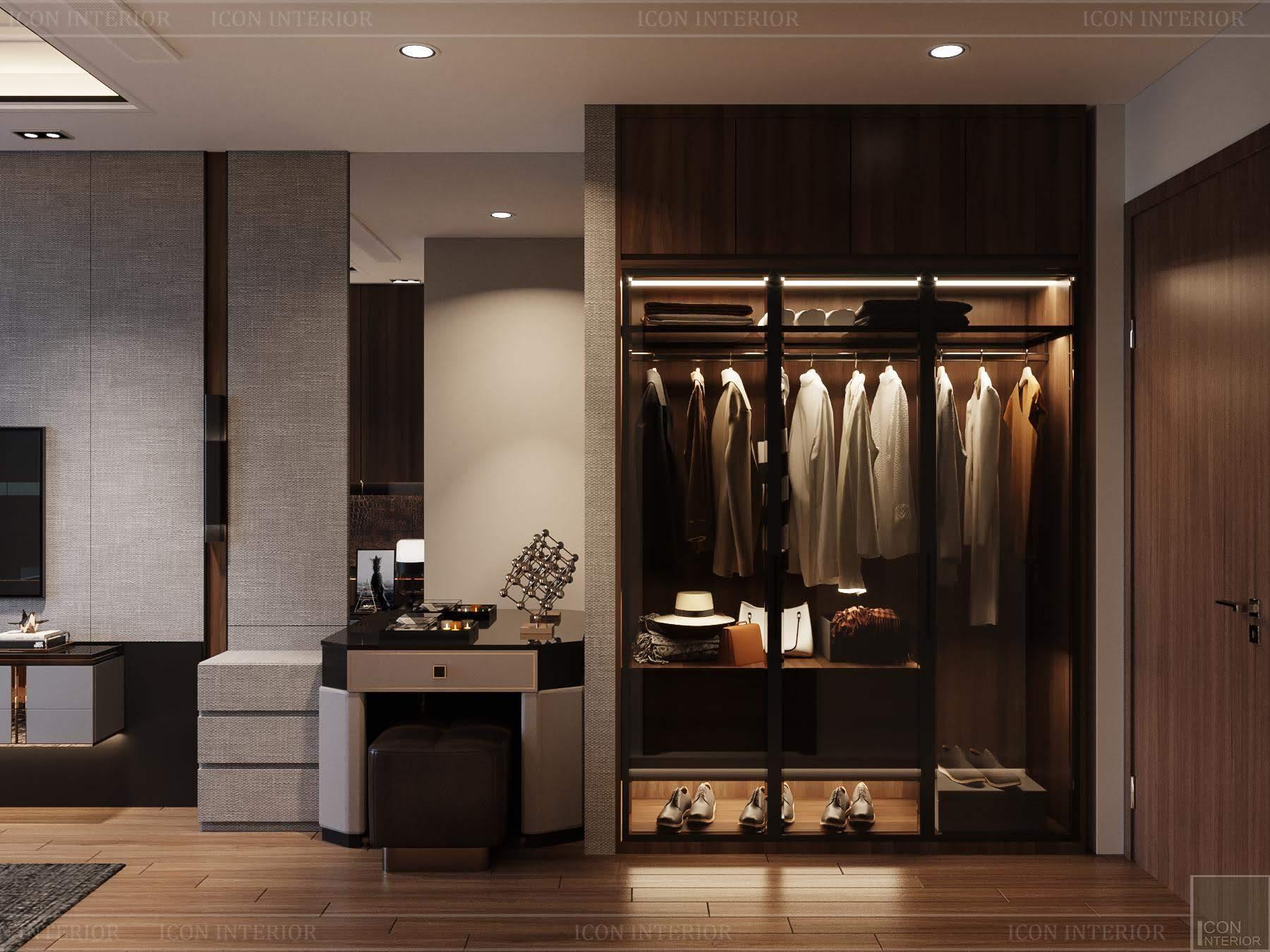 thiết kế nội thất phong cách hiện đại - tủ quần áo