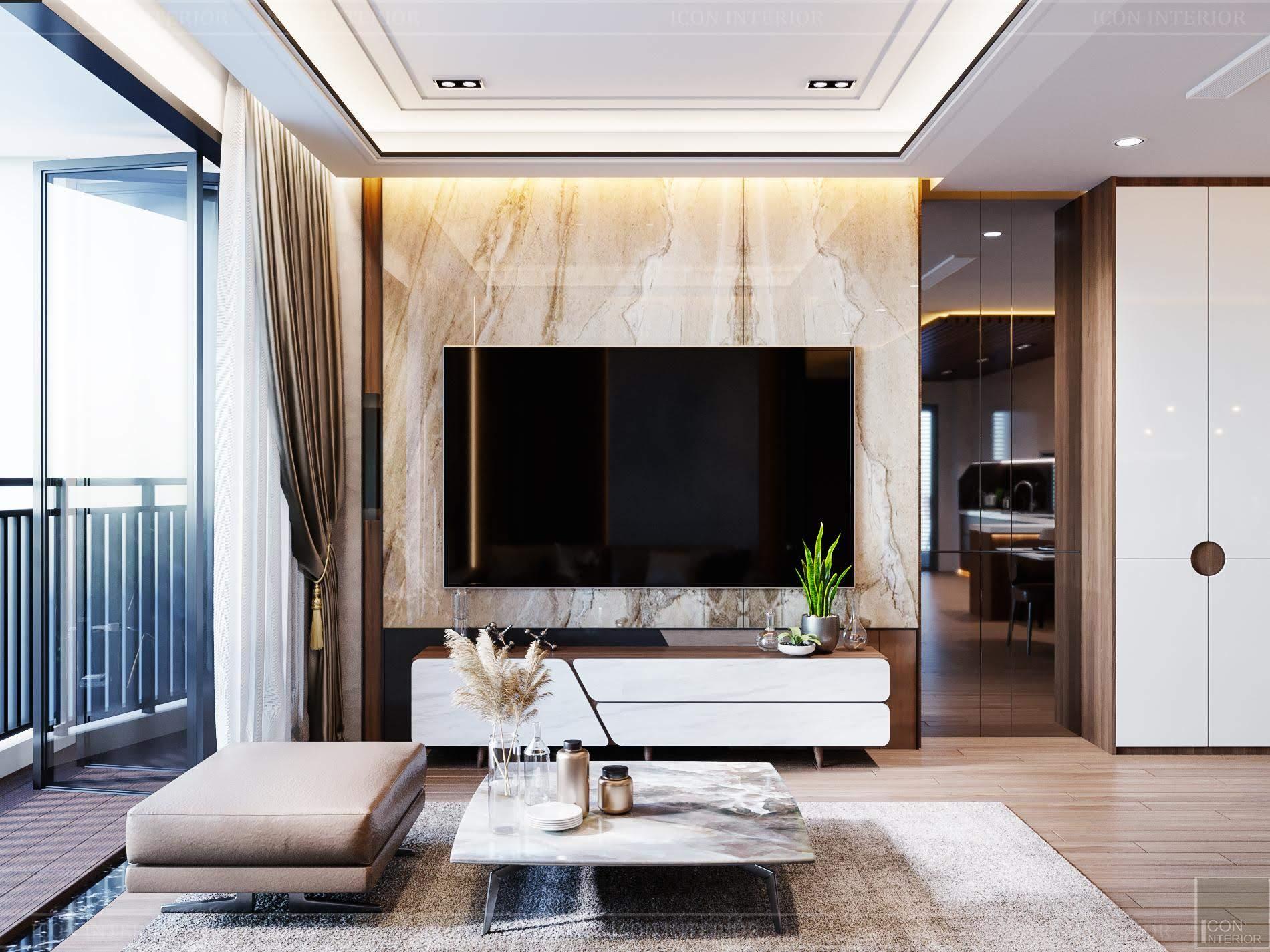 thiết kế nội thất phong cách hiện đại - phòng khách 1