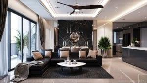 căn hộ palm heights quận 2 - thiết kế phòng khách 2