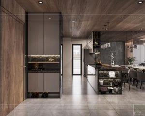 thiết kế căn hộ sunwah pearl - phòng ăn 1