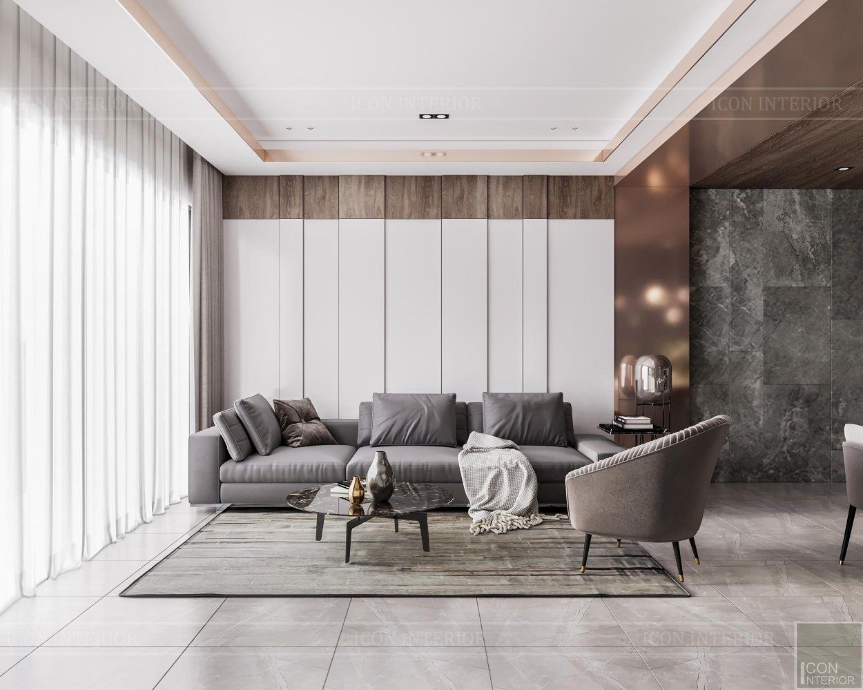 thiết kế căn hộ sunwah pearl - phòng khách 1