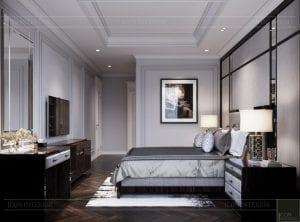 thiết kế nội thất căn hộ sunwah pearl - phòng ngủ
