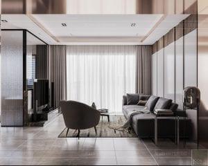 thiết kế căn hộ sunwah pearl - phòng khách 3