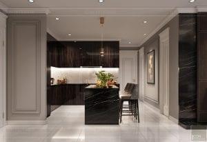 thiết kế nội thất căn hộ sunwah pearl - quầy bar