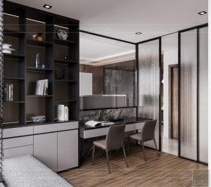 thiết kế căn hộ sunwah pearl - phòng ngủ 2