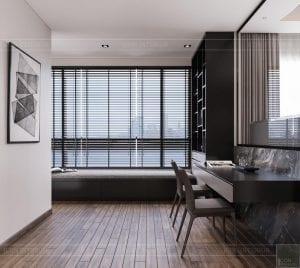 thiết kế căn hộ sunwah pearl - phòng ngủ 1