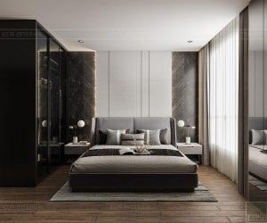 thiết kế căn hộ sunwah pearl - phòng ngủ master 1