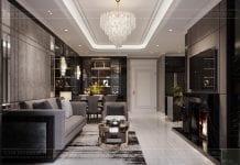 thiết kế nội thất căn hộ sunwah pearl - phòng khách 3