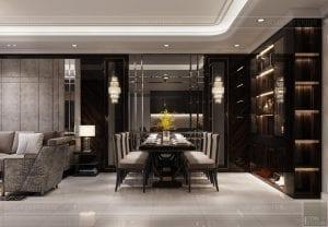 thiết kế nội thất căn hộ sunwah pearl - phòng ăn