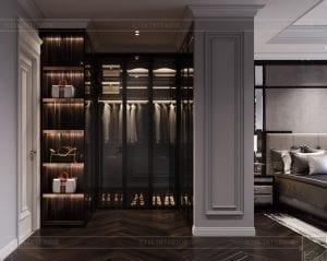 thiết kế nội thất căn hộ sunwah pearl - phòng thay đồ