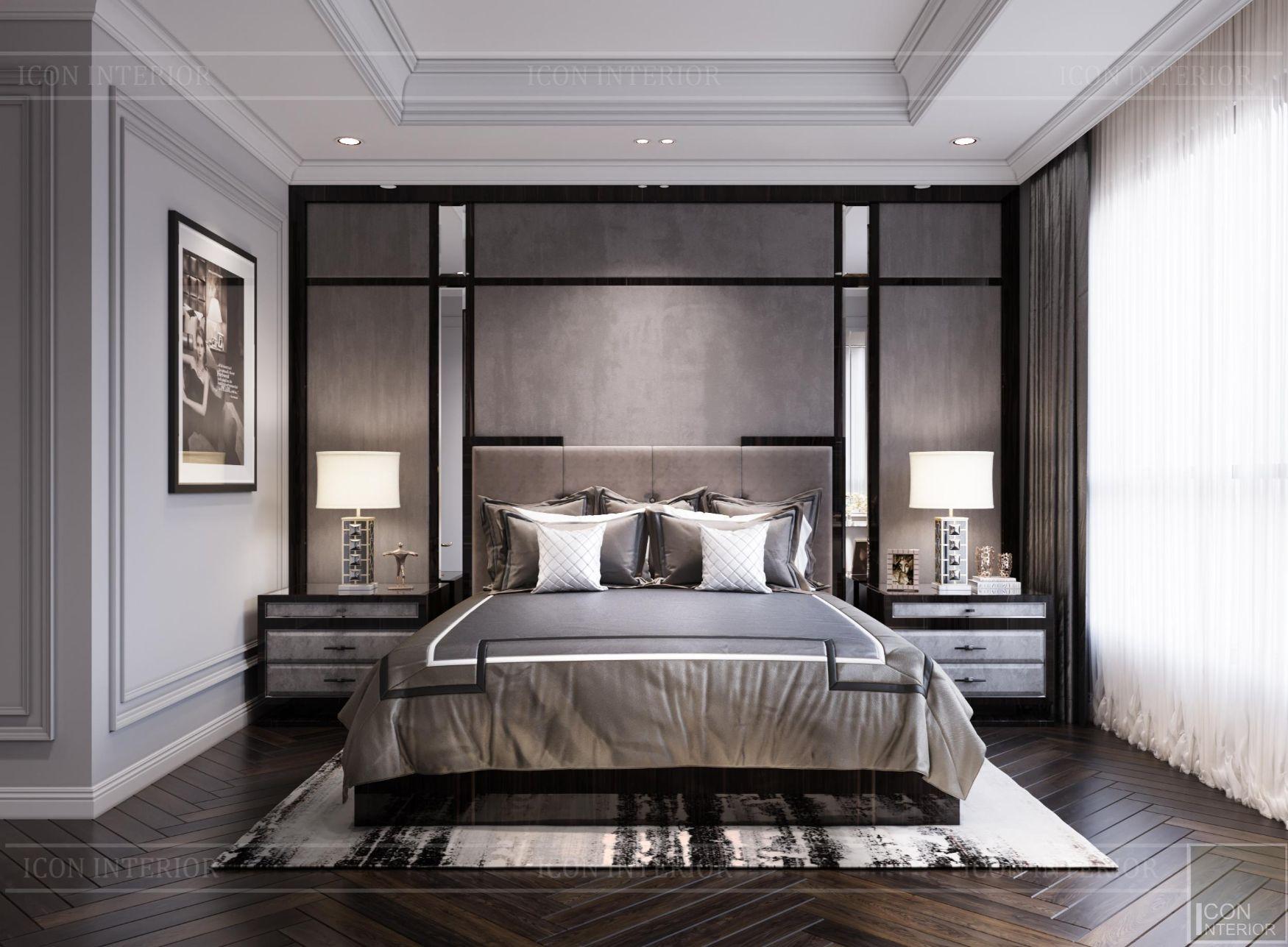 thiết kế nội thất nhà chung cư 100m2 Kingdom 101 phòng ngủ