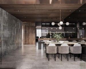 thiết kế căn hộ sunwah pearl - phòng ăn 3