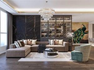 thiết kế chung cư thảo điền pearl - phòng khách