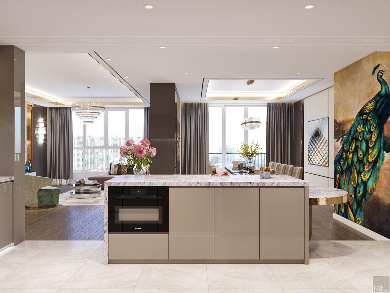 thiết kế chung cư thảo điền pearl - đảo bếp