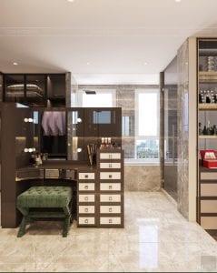 thiết kế chung cư thảo điền pearl - phòng thay đồ 4