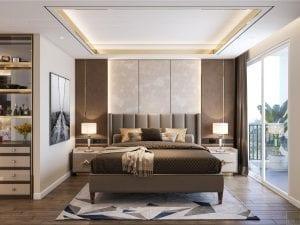thiết kế chung cư thảo điền pearl - phòng ngủ master 1