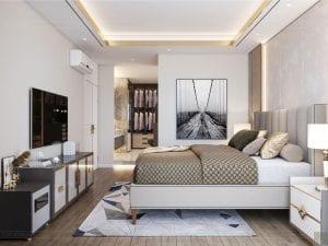 thiết kế chung cư thảo điền pearl - phòng ngủ master 2