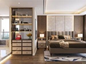 thiết kế chung cư thảo điền pearl - phòng ngủ master 3