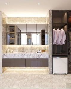 thiết kế chung cư thảo điền pearl - phòng thay đồ 2