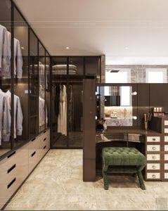 thiết kế chung cư thảo điền pearl - phòng thay đồ 5