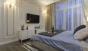 Thi công nội thất biệt thự Tân cổ điển - phòng ngủ master 2