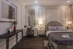 Thi công nội thất biệt thự Tân cổ điển - phòng ngủ 1